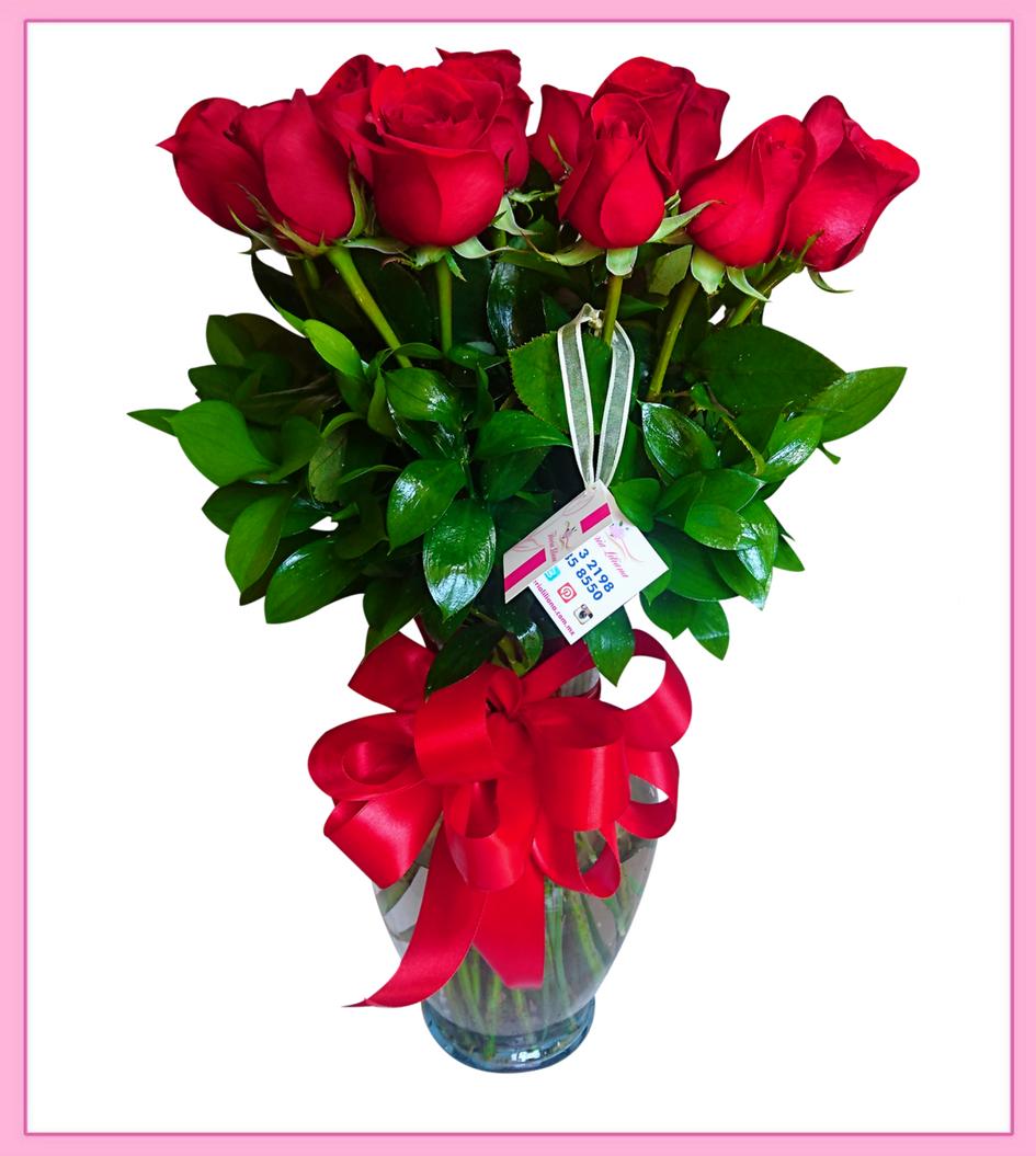 Arreglo De Flores Naturales Rosas 24 Piezas
