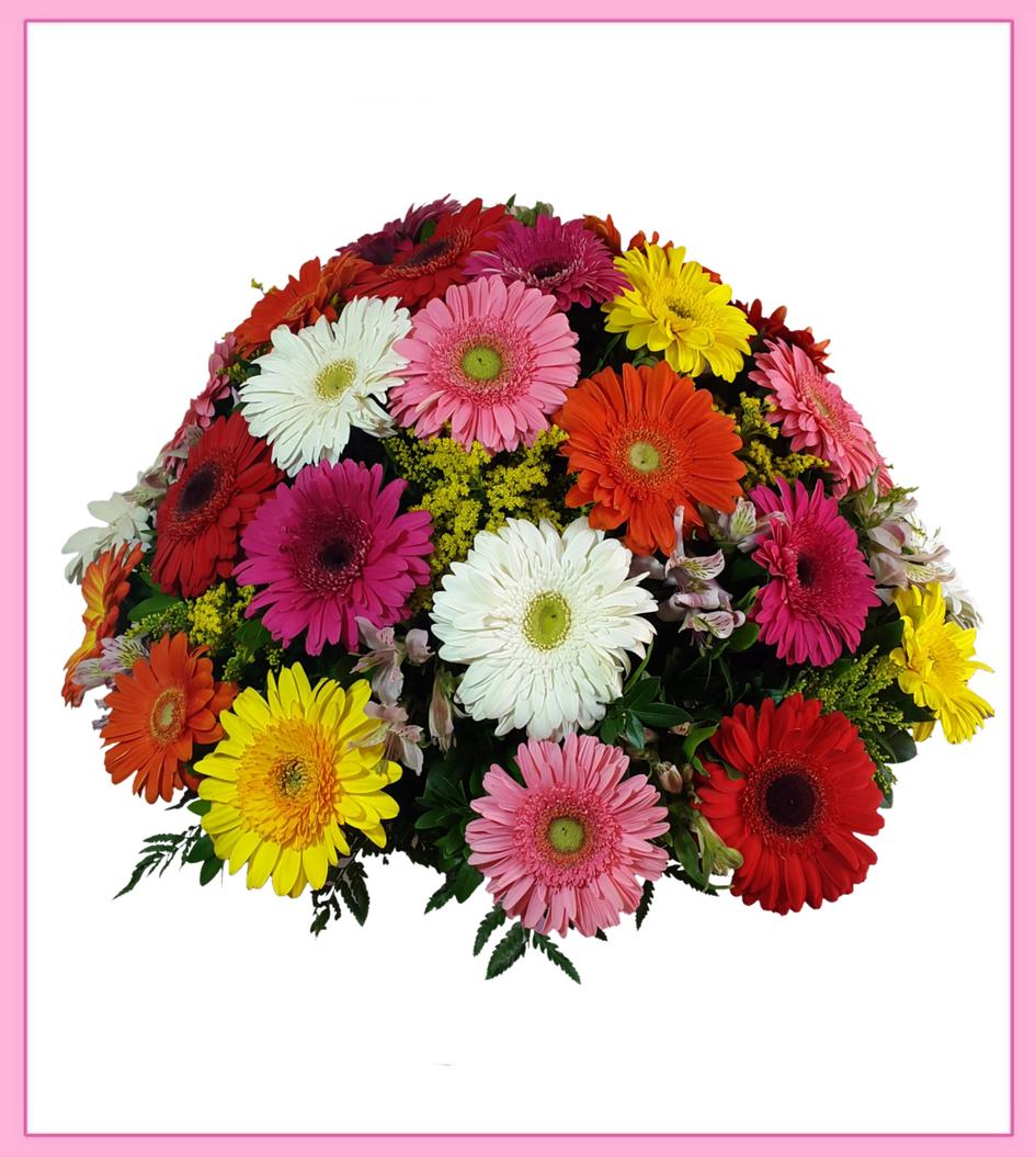 Arreglo Floral De Gerberas 36 Piezas