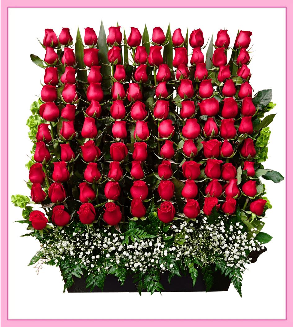 Arreglo Floral Canasta De Rosas 72 Piezas