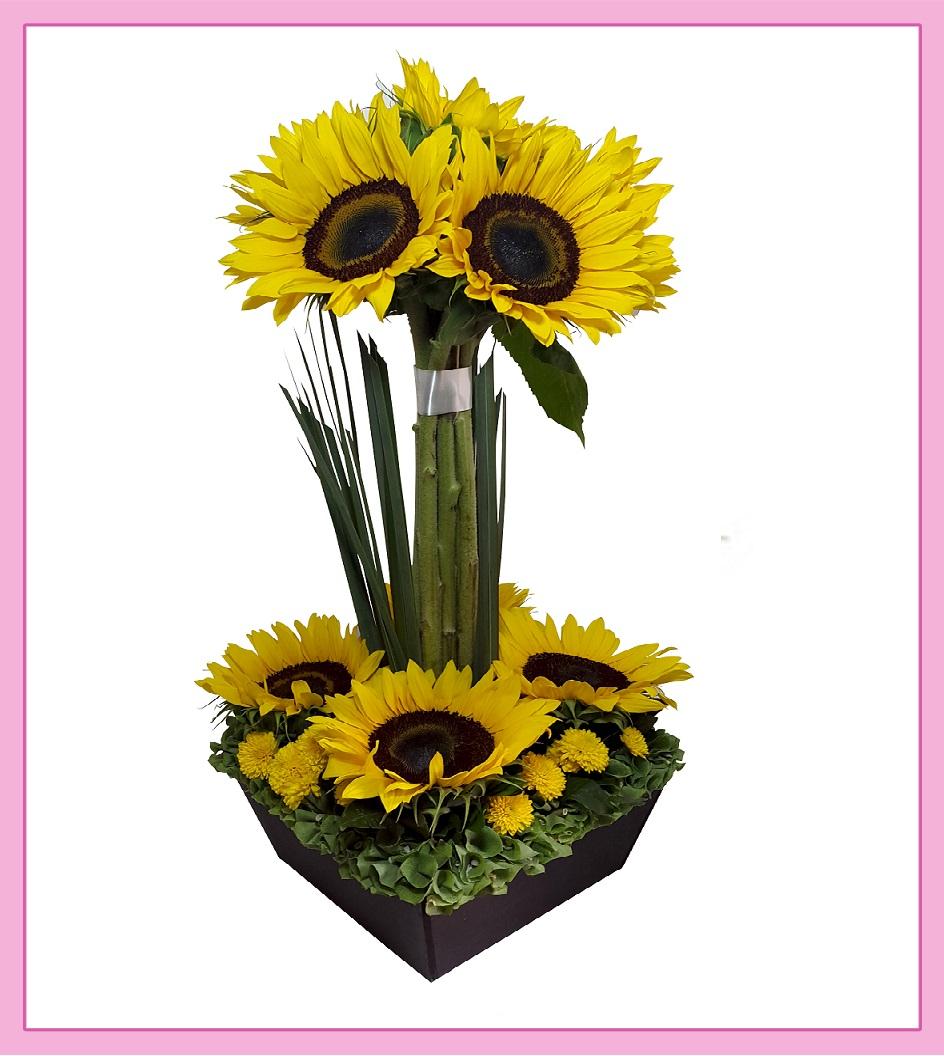 Arreglo Floral De Girasoles 8 Piezas