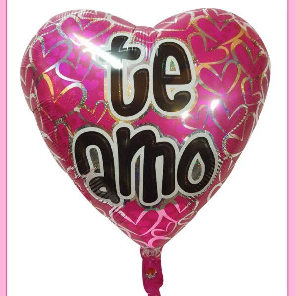 Globo de te amo con helio de 14″