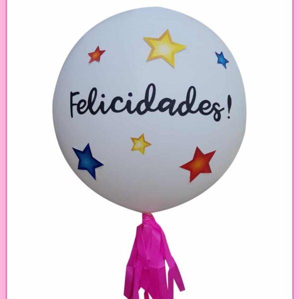 Globo gigante de helio felicidades