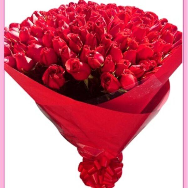 Ramo de rosas rojas 180 piezas