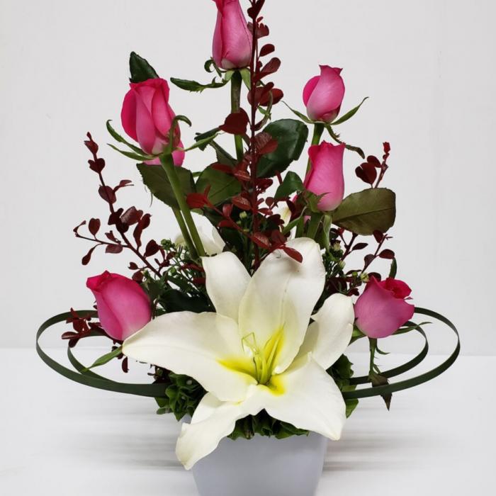 Arreglo floral de rosas