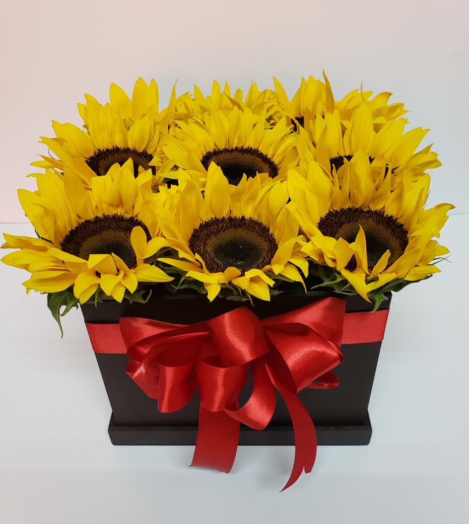 Arreglos Florales Caja De Girasoles