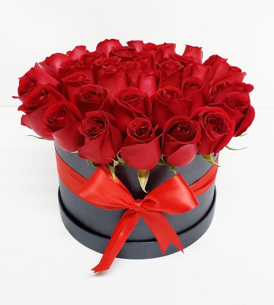 Caja de rosas premium