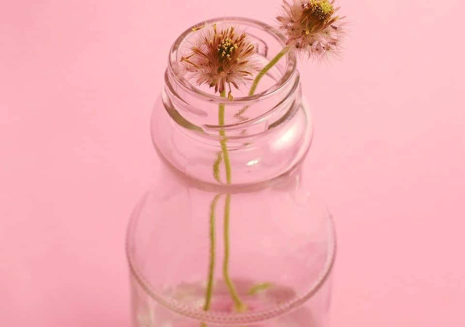 Recipientes reciclados para tus arreglos de flores a domicilio