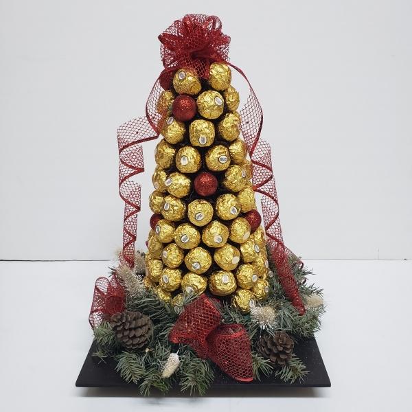 Pino navideño de chocolate