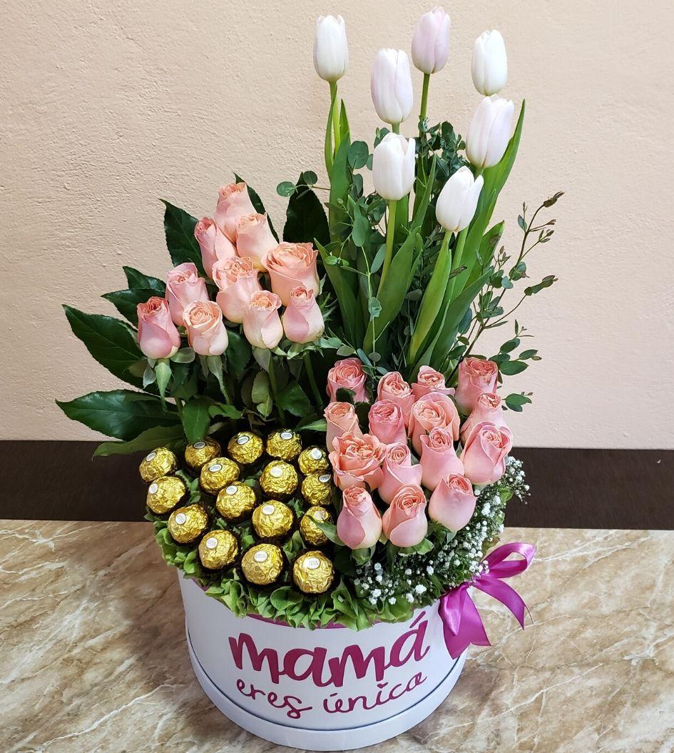 Caja de Rosas para Mama