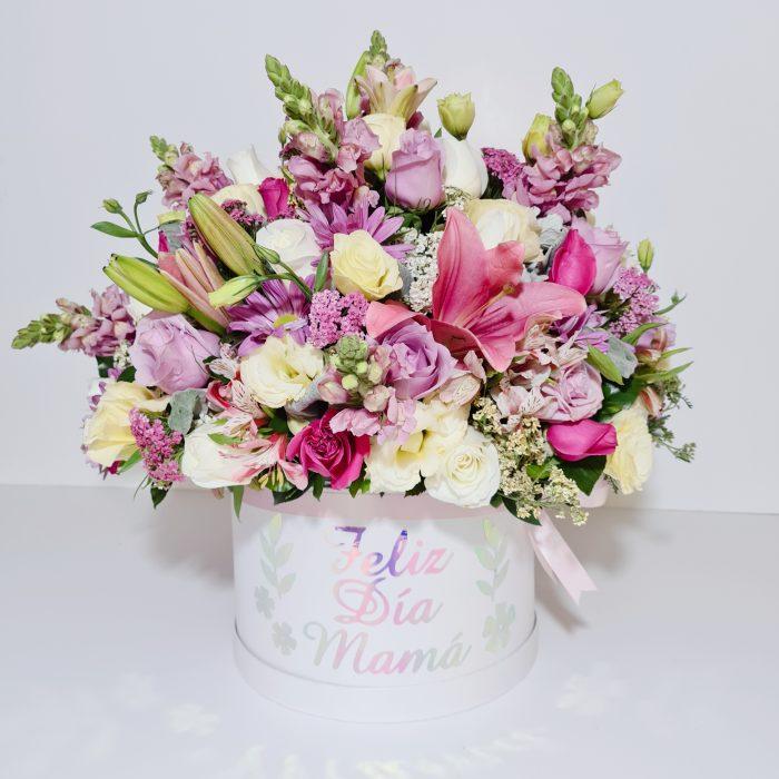 Caja de Flores para Mama flores vareadas